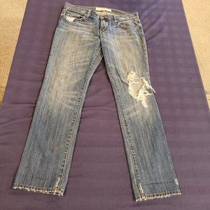 Abercrombie & Finch Distressed Erin Style Jeans